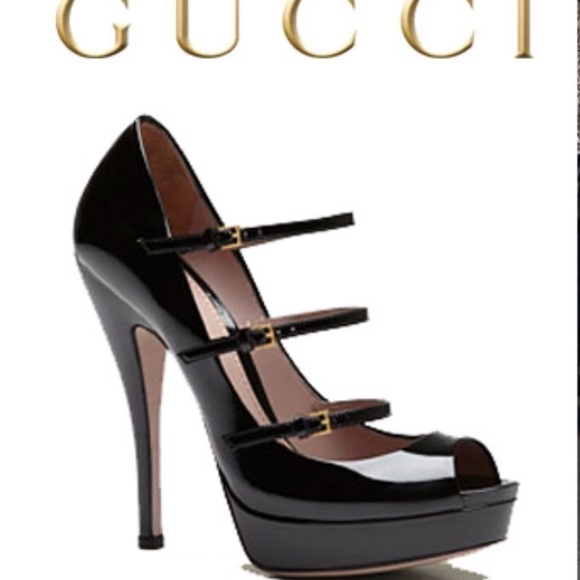 6104d0bc3 Gucci Shoes | Lisbeth Pumps Black Patent Leather | Poshmark